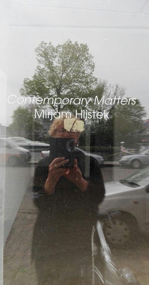 Mirjam voor galerie Contemporary Matters