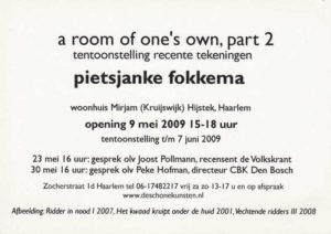 Flyer tekst tentoonstelling Pietsjanke Fokkema