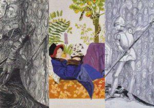 Flyer met tekeningen Pietsjanke Fokkema