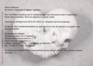 Flyer achter Robin Kolleman 2013