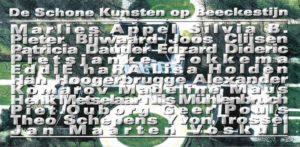 Flyer voorkant Schone Kunsten op Beeckestijn november 2000