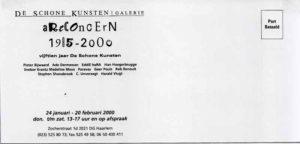 Flyer tekst groepstentoonstelling ArtConcern 1985-2000