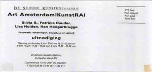 Flyer Kunstrai juni 2001 voorkant